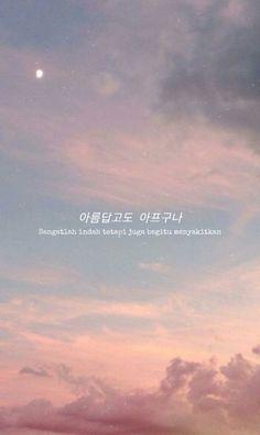 Korea Wallpaper, Kawaii Wallpaper, Cute Inspirational Quotes, Motivational Quotes For Success, Korea Quotes, Quotes Rindu, Aesthetic Korea, Korean Lessons, Korean Language Learning