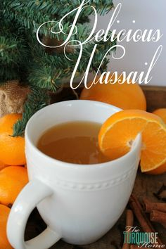Warm up on a winter night with this Delicious Hot Spiced Wassail | TheTurquoiseHome.com