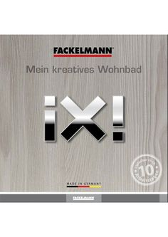 "Fackelmann Katalog der Badmöbel-Serie ""ix"""