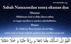 Sabah namazı için dua