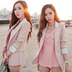 827 2014 médio- longa terno slim blazer feminino plus size da mulher primavera e outono outerwear 26.98