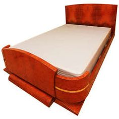 HIgh Style French Art Deco Double Bed, Mahogany and Amboyna Burl