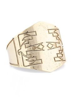 LOVE THIS!! Gold Thunderbird Etched Cuff by Low Luv on Gilt.com