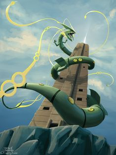 """butt-berry: """"Summoning Rayquaza at the Sky Pillar """" Pokémon - Pokemon Pokemon Mew, Rayquaza Pokemon, Mega Rayquaza, Pokemon Dragon, Pokemon Fan Art, Pikachu Art, Gaming Wallpapers, Animes Wallpapers, Rayquaza Wallpaper"""