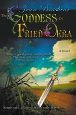 """i-book: Grief. Hope. Love. Sword fights. And the crisp golden glory of fried okra. Join Eudora """"Pea"""" O'Brien on her funny, poignant journey seeking the reincarnated soul of her sister…and the family of misfits she finds along the way: starving kitten, pregnant teen & sexy con man trying to go straight. With two unlikely gurus, a grandmotherly café owner and a ferocious gun dealer named Glory, Pea struggles to learn swordplay and the art of perfect fried okra in the search for her own lost…"""