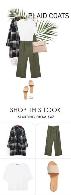 """""""Untitled #1648"""" by contrary-to-ordinary ❤ liked on Polyvore featuring Vince, Hinge, MANGO and plaidcoats"""