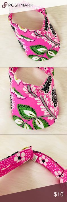 Vera Bradley Visor in Priscilla Pink In good used condition. Does have some staining pictured. Adjustable back so one size fits all. Vera Bradley Accessories Hats