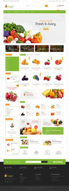 #Organic #Food #Grocery - #Prestashop #Responsive - Web Design - #TemplateTrip