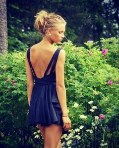 Adorable Backless Party Dress