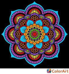 Hamsa Design, Mandala Design, Design Art, Mandala Art Lesson, Mandala Painting, Mandala Dots, Crochet Mandala, Decoupage Jars, Puzzle Shop