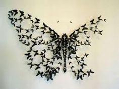 Creative butterfly wall decoration of mini butterflies