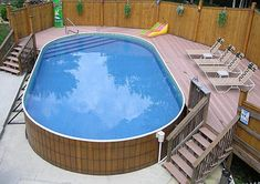 Above Ground Pool in Deck