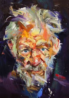 Paul Wright The man with green eyes #Art #Painting - Mens