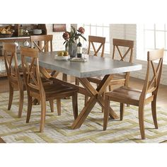 Keaton Maple/ Zinc Dinette Table - Overstock™ Shopping - Great Deals on Liberty Dining Tables