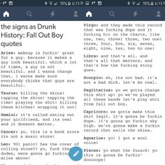 FOB's Drunk History (feat. Brendon Urie) x zodiac