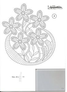 "Photo from album ""Lace Express on Yandex. Irish Crochet Patterns, Bobbin Lace Patterns, Embroidery Patterns, Fabric Stiffener, Bobbin Lacemaking, Lace Art, Cutwork Embroidery, Point Lace, Lace Jewelry"