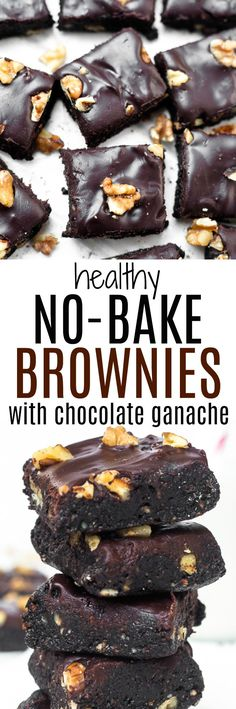 These healthy no-bake brownies are a decadent treat made with wholesome ingredients!