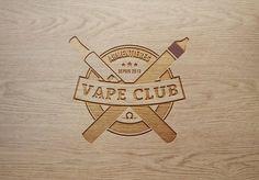 vape club logo wood laser engraved armentières