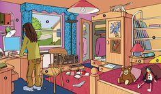 décrire une chambre, situer les objets