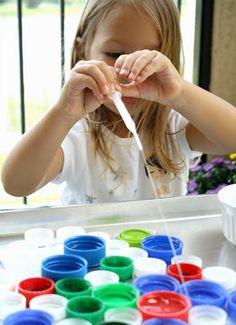 Okulöncesi Sanat ve Fen Etkinlikleri: İnce Motor Becerileri Geliştirme - Şırınga ile Su Taşıma-