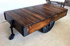 DIY Factory Cart Coffee Table :: Hometalk