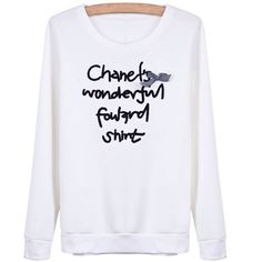 29,90EUR Longsleeve Sweatshirt weiss mit schwarzer Schrift und Schleife www.pinjafashion.com