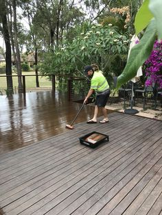 Timber deck oiling Brisbane and Gold Coast www.waterworxpressurecleaning.com.au Deck Cleaning, Timber Deck, Gold Coast, Brisbane, Outdoor Decor, Home Decor, Decoration Home, Room Decor, Home Interior Design