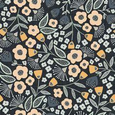 Timelapse of folk art florals Fall Wallpaper, Print Wallpaper, Wallpaper Backgrounds, Wallpaper Ideas, Surface Pattern Design, Pattern Art, Flower Pattern Design, Flower Designs, Art Designs