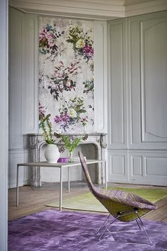 CS. Amazing blend of colors and patterns. Designers Guild Capisoli aubergine rug