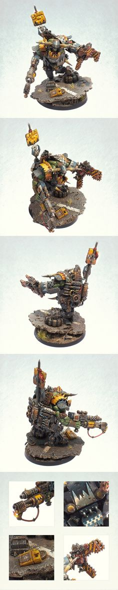 Giant Ork Warboss with Cybork body in Mega Armour - itshammertime!