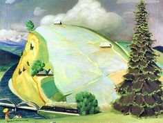 Rafal Malczewski (Polish painter, Portrait Kazimiera Żuławska against the Tatra Mountains 1920 I got a call yesterday from a. Tatra Mountains, Landscape Paintings, Landscapes, Map Art, Poland, Draw, Amazing, Illustration, Maps