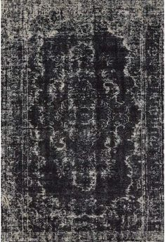 Living Room Black Rug - Ironwork Collection Power Loomed Wool & Art Silk Area Rug in Black & E