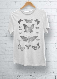 Butterfly Moth illustration Print TShirt