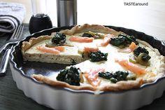 TASTE around: Räucherlachs-Quiche #smokedsalmon #smoked #salmon #räucherlachs #quiche #tarte #fish #food