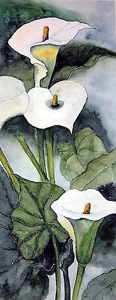 Calla Lilies 2 - Counted cross stitch pattern in PDF format by Maxispatterns on Etsy