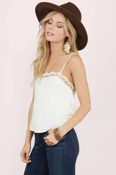 Crop Tops, Tobi, Cream Sweet Embrace Crop Top
