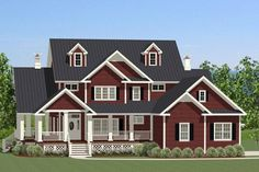 Farmhouse Plan: 2,971 Square Feet, 3 Bedrooms, 2.5 Bathrooms - 6849-00019