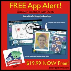 FREE APP ALERT! $19.99 to FREE for the first time ever! Discovering Emotions with Zeely! TODAY ONLY!! http://www.smartappsforkids.com/2014/03/free-app-alert-discovering-emotions-with-zeely-1999-to-free-for-the-first-time-ever-.html