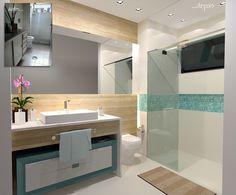 Banheiro A.P.D.F. - Antes e depois