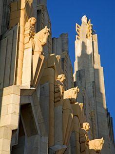 Boston Avenue Art Deco Church, Downtown Tulsa, Oklahoma. There are beautiful churches in Tulsa.