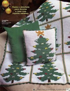 Crochet and knitting from Irina Lilac: Crochet for the New Year Crochet Pillow Patterns Free, Christmas Crochet Patterns, Holiday Crochet, Crochet Gifts, Plaid Crochet, Crochet Quilt, Crochet Motif, Christmas Afghan, Christmas Knitting