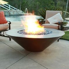 42 Inch Cono Moreno Hand Hammered Copper Fire Pit by Lindsey  Conklin