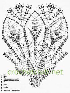 Veronica Crochet Y Tricot.: Paraguas A - Diy Crafts - Marecipe Crochet Tablecloth Pattern, Free Crochet Doily Patterns, Crochet Doily Diagram, Crochet Motif, Free Pattern, Diy Crafts Crochet, Crochet Art, Thread Crochet, Lace Doilies