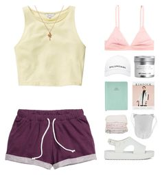 """""""Stacy"""" by hey-its-lexiib ❤ liked on Polyvore featuring Talula, H&M, Melissa, Balenciaga, Mirabelle and country"""