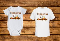 Thankful Snoopy Inspired Onesie and Toddler Shirt, Holiday, Baby, Toddler, Infant, Custom Shirt, Snoopy Inspired by LeopardVinylDesigns on Etsy