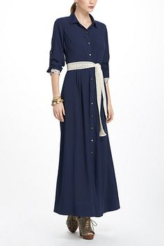 All I want are a few nice maxi dresses...  Jolette Maxi Shirtdress #anthropologie