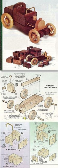 Wooden Toy Car Plans - Children's Wooden Toy Plans and Projects | WoodArchivist.com