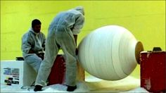 How to make Giant Easter Eggs LIKE A BOSS. This is how we made 10 giant eggs for a shopping mall decoration. Making giant eggs can be fun but also dangerous. Giant Easter Eggs, Ball Chair, Like A Boss, How To Make, Inspiration, Inspirational