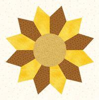 sunflower quilt templates