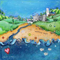 beautifully simplistic. Welsh Artist Susie Grindey- Pembrokeshire Pembrokeshire Wales, Building Art, Cymru, A Beast, The Other Side, Welsh, Lovely Things, Sketchbooks, Art School
